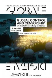Cover der Ausstellungsbroschuere »Global Control and Censorship«