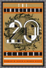Cover der Publikation »The Imaginary 20th Century«, Schrift auf goldenem Hintergrund