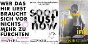 Exhibition posters Nanni Balestrini, gerhard rühm und Hansjörg Mayer