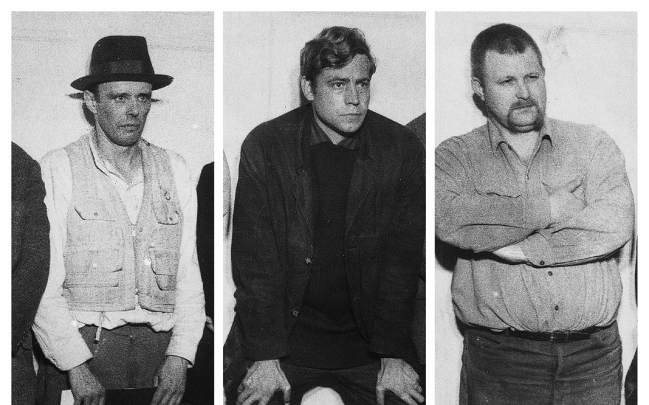 Portraits von Joseph Beuys, Bazon Brock und Wolf Vostell