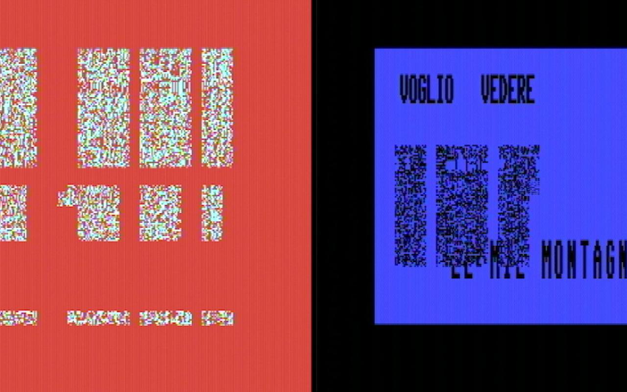 Ein roter und blauer Bildschirm