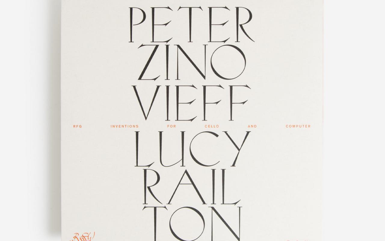 Weisse Plattenhülle mit schwarzen Buchstaben: Peter Zinovieff & Lucy Railton