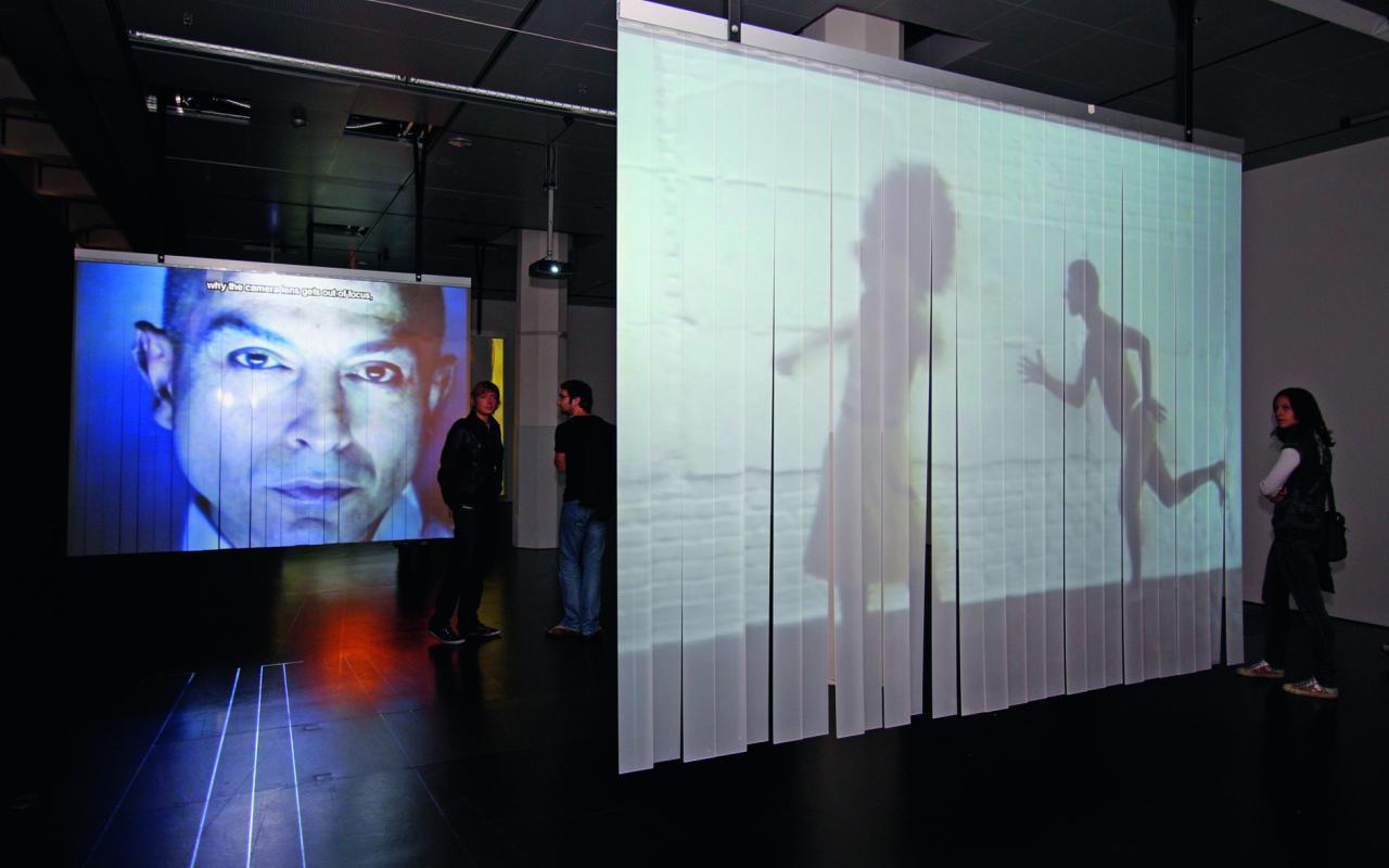 """Ausstellungsansicht """"Der diskrete Charme der Technologie"""""""