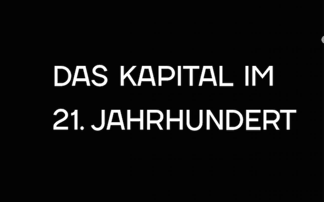 Poster of the event »Das Kapital im 21. Jahrhunder«