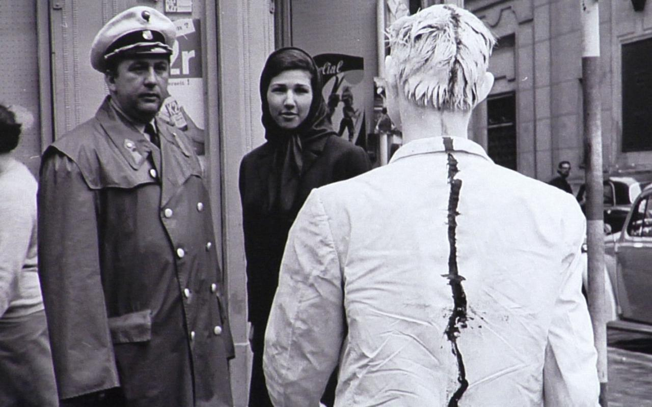 Zu sehen ist ein Still des Filmes Body and Art, der am 18.03.20 im ZKM gezeigt wurde.