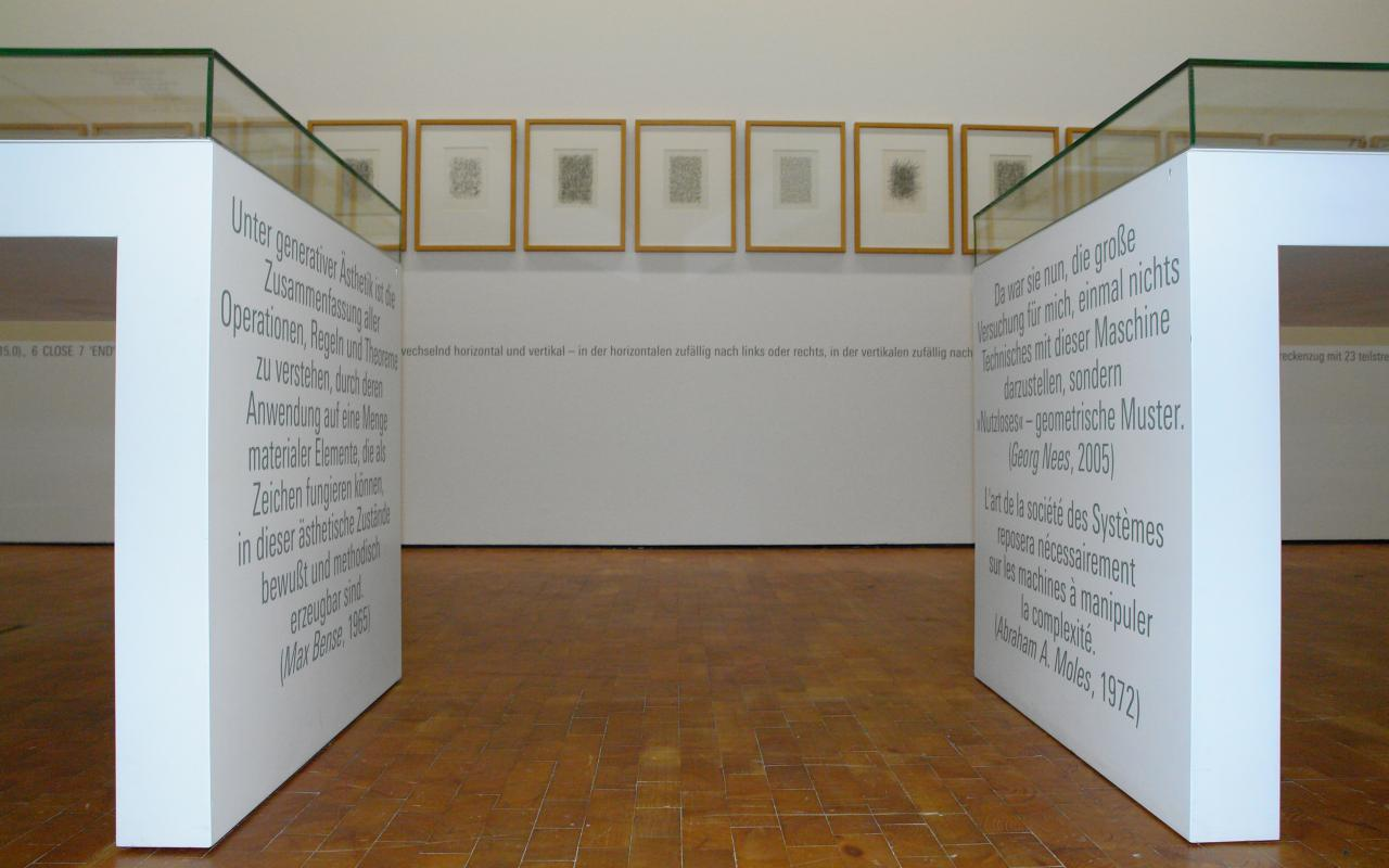 "Exhibition view ""Georg Nees: The Great Temptation"""