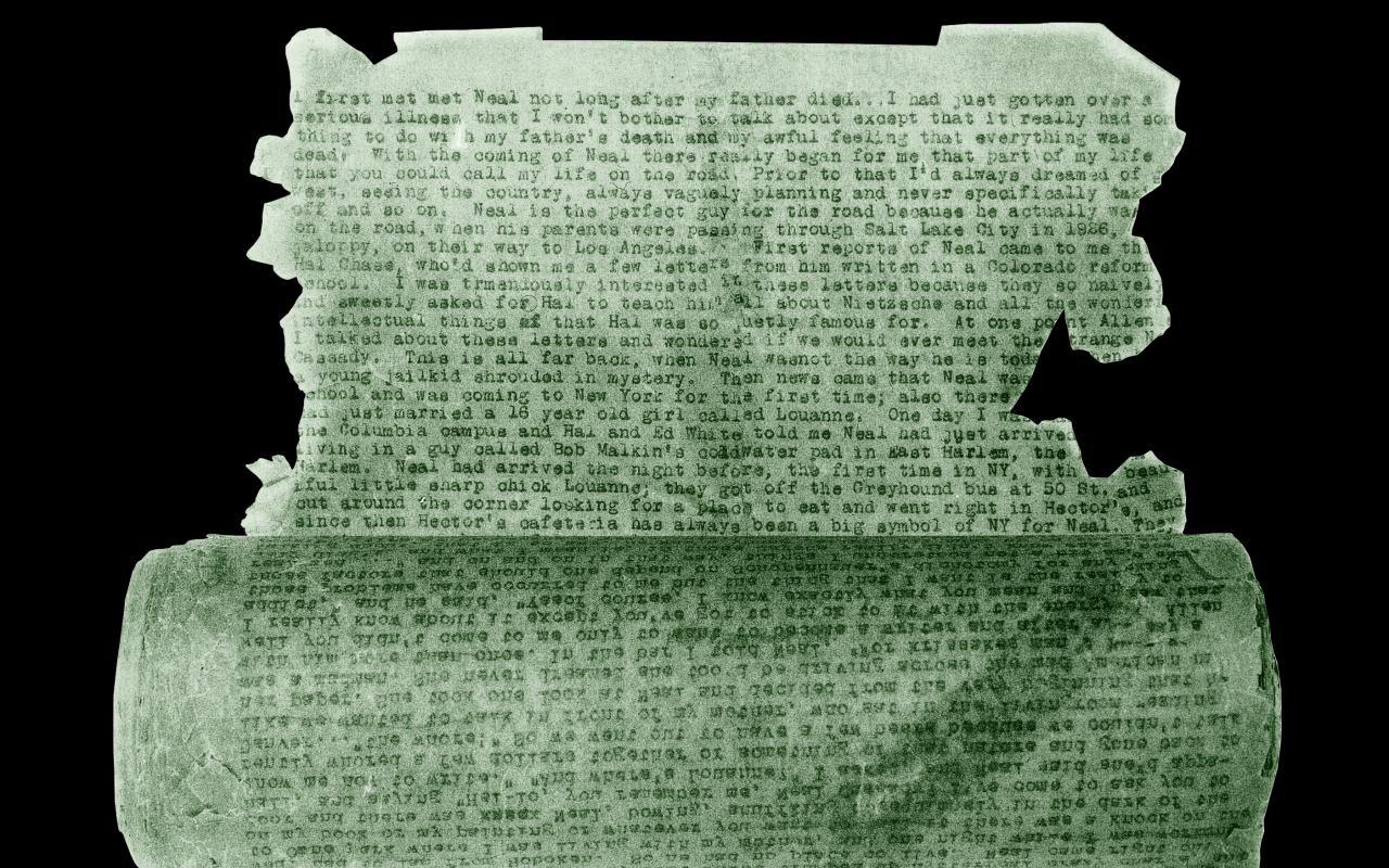 'On the Road' auf Pauspapier