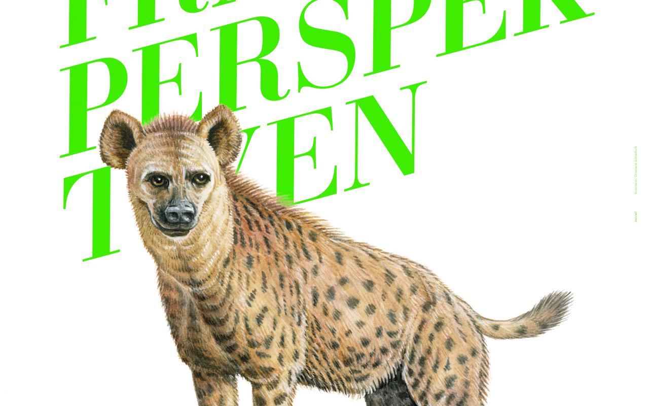 Lettering Frauenperspektiven and Logo Animal Hyaena
