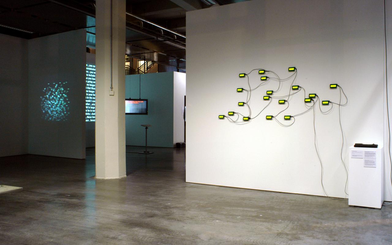"""Ausstellungsansicht """"Die Algorithmische Rvolution"""""""