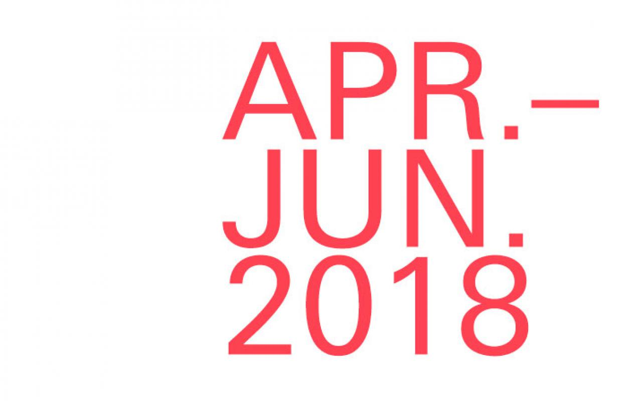Lettering »Apr.–Jun. 2018«