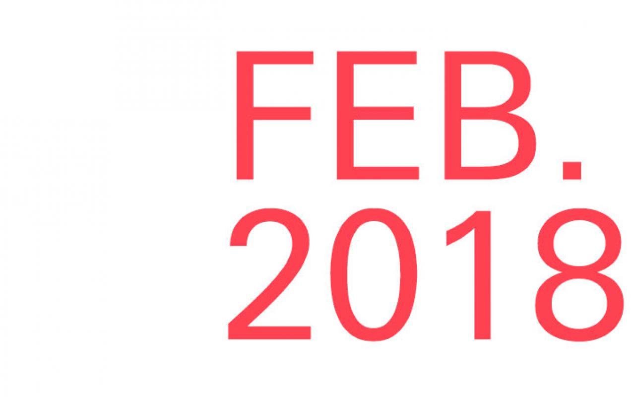 Schriftzug »Feb. 2018«