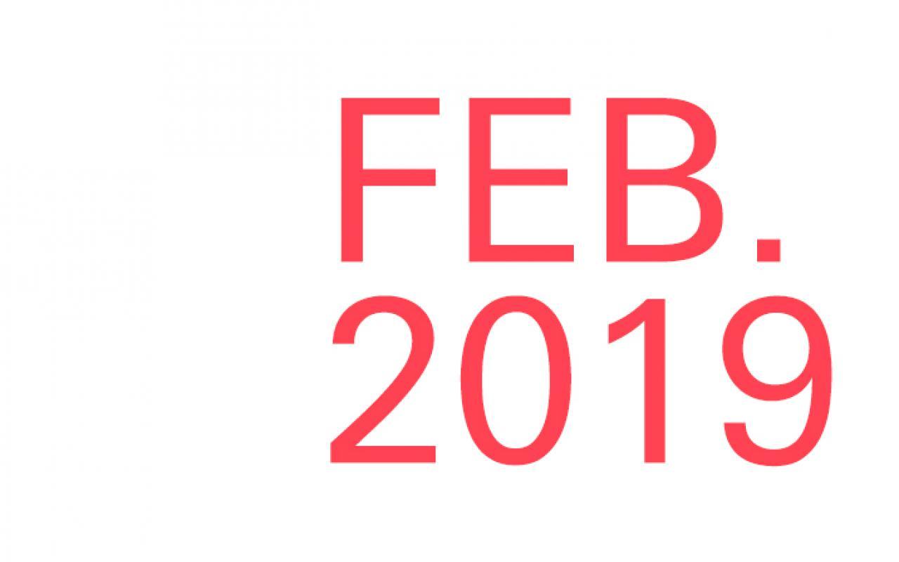 Schriftzug »FEB. 2019«