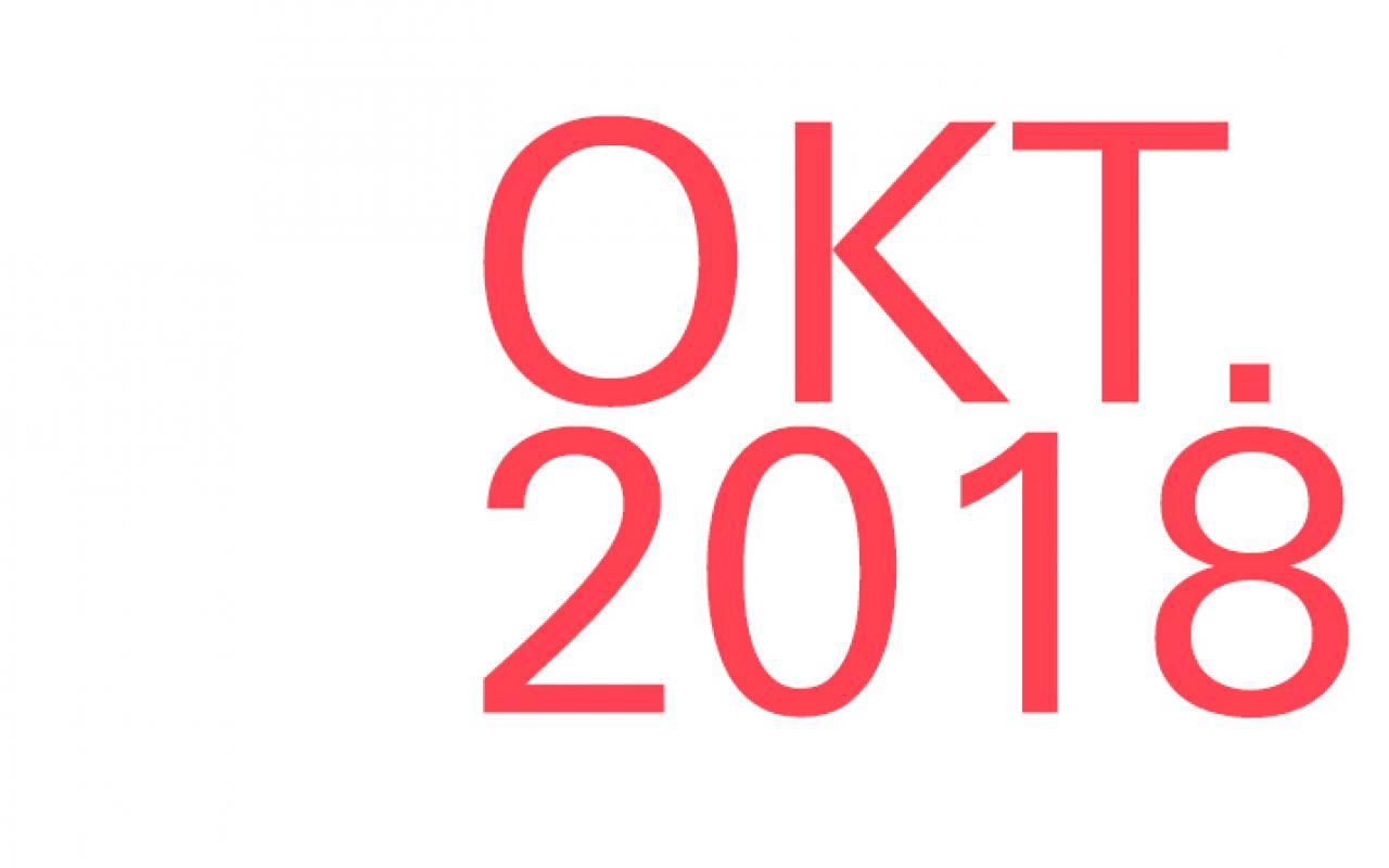 Schriftzug »OKT. 2018«
