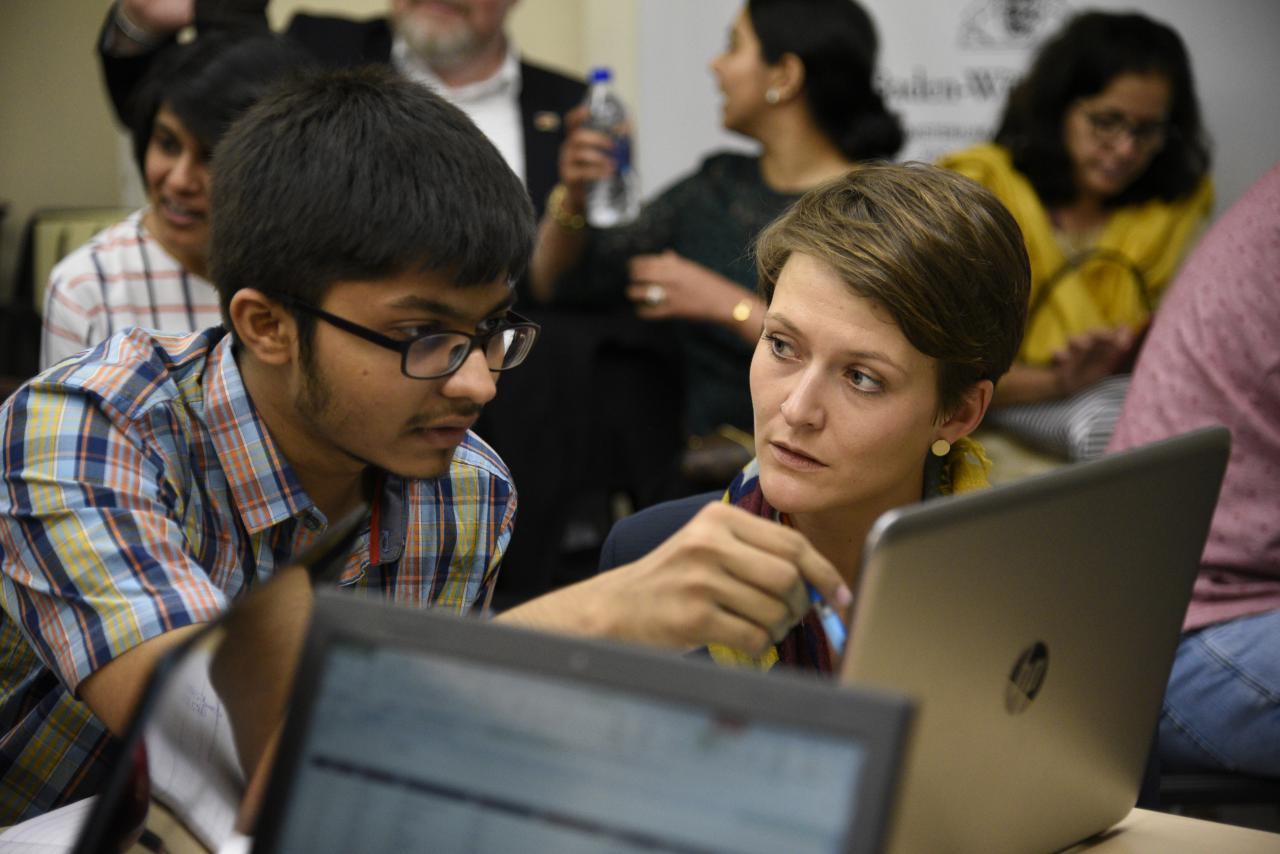 Teilnehmer des Coding Culture Hackathons in Mumbai.