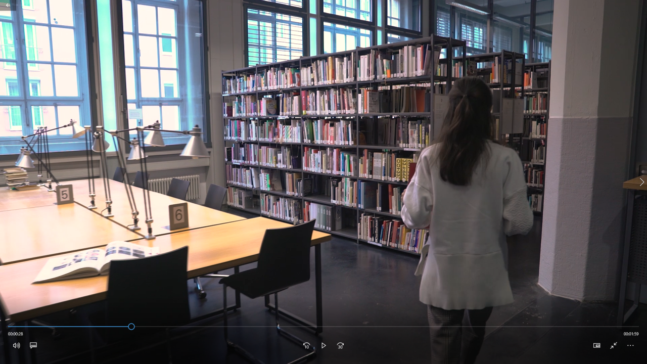 Screenshot from the library image film
