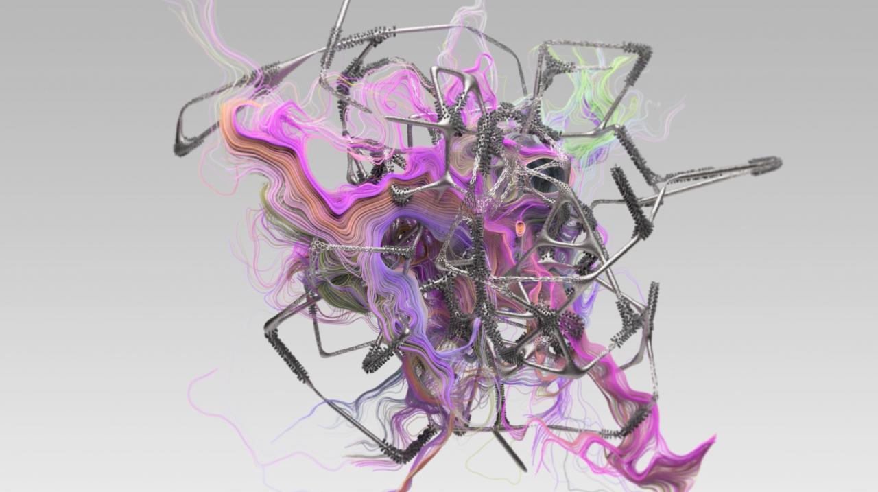 Verwobenes Bild aus Farben und digitalen Strukturen