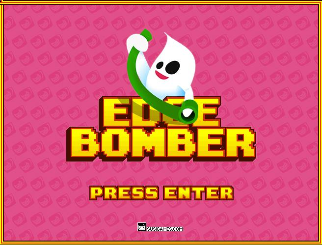 "A ghost holds a green paper roll, below that it says ""Edgebomber"""