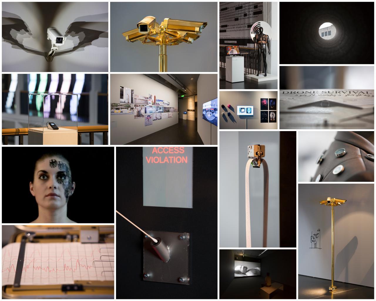 Verschiedene Ansichten der Ausstellung »GLOBAL CONTROL AND CENSORSHIP«
