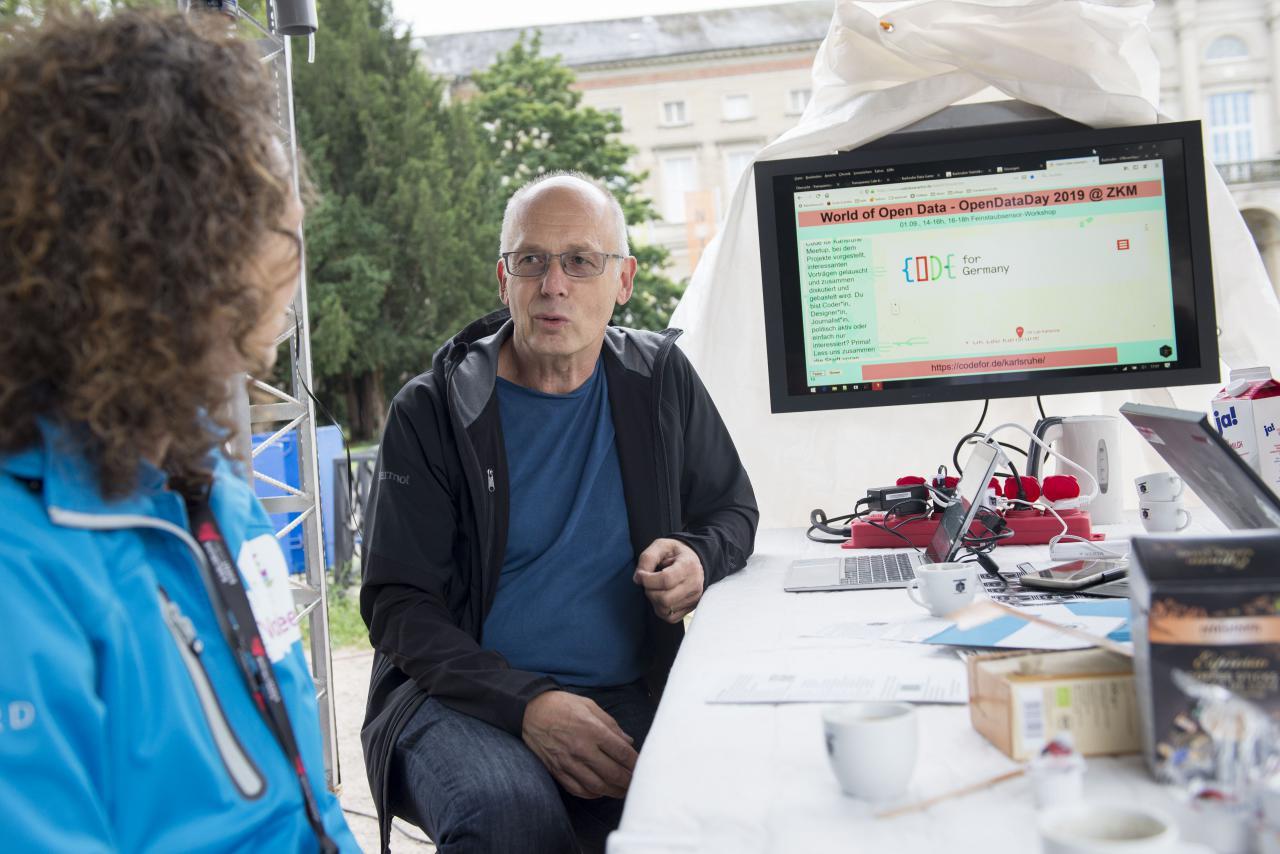 Impressionen des Transparenz Cafè's am Friedrichplatz, ein Pop-Up Workshop.