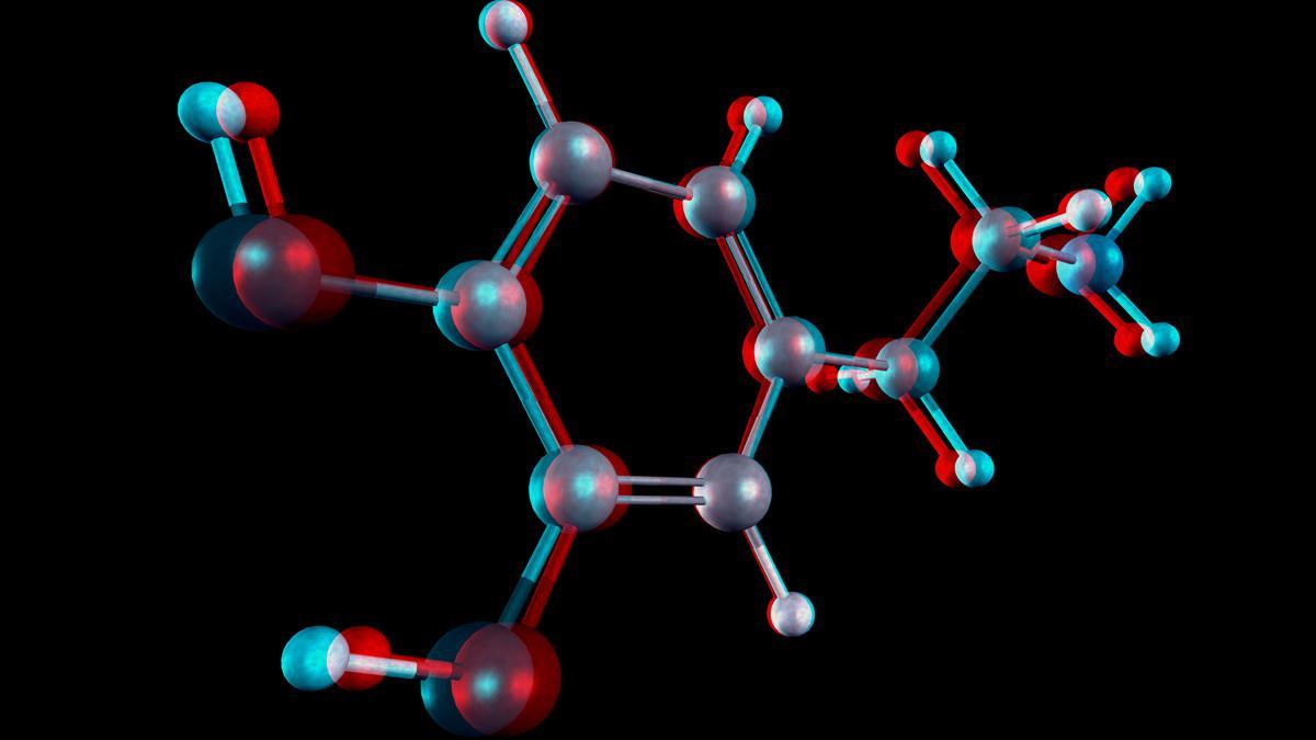 A molecule in 3 D