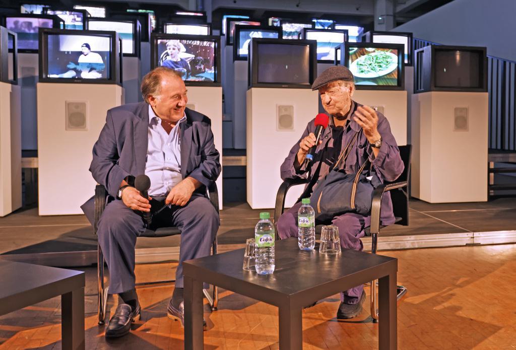Peter Weibel mit Jonas Mekas