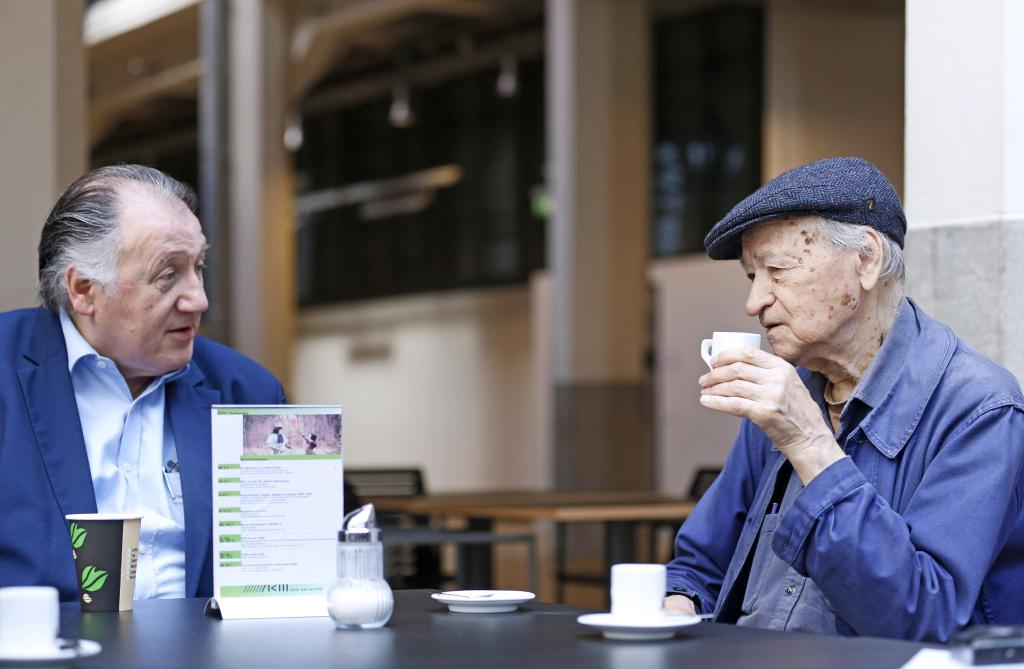Peter Weibel und Jonas Mekas
