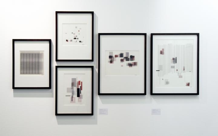 """Ausstellungsansicht """"Frieder Nake: Die präzisen Vergnügen"""""""