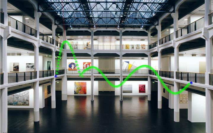 Darstellung physikalischer Modelle im Museumsraum