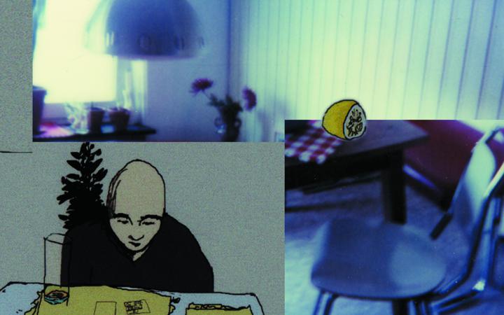 Eine Montage aus einer Zeichnung von Besirat Tesfay und einem Foto von Nicole Blaffert.
