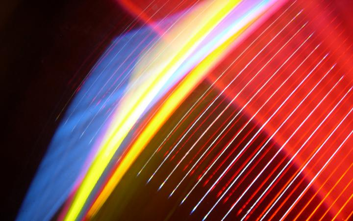 The picture shows a four-color light installation