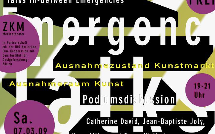 Poster der Konferenz »Talks in-between Emergencies«