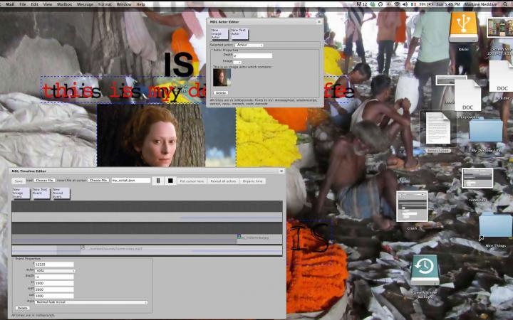 A desktop with open programs