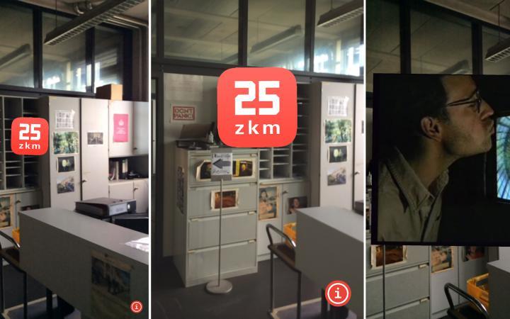 Screenshots of the app »ZKM Flashback«