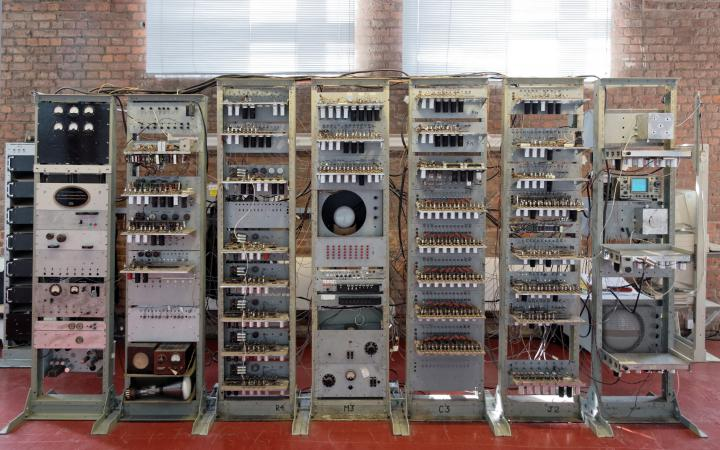 One can see a reconstruction of »Manchester Baby«, the first computer in the world