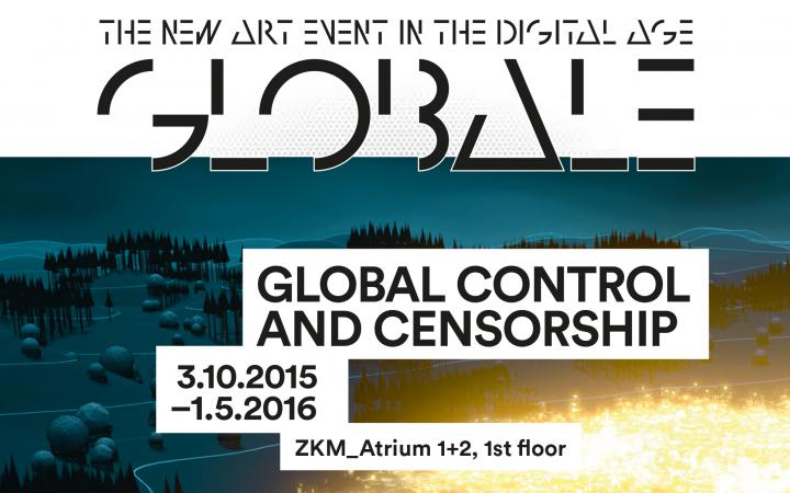 Cover of the exhibition brochure  »Global Control and Censorship«