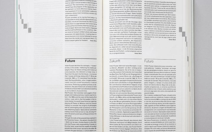 View of two sample pages of Flusseriana