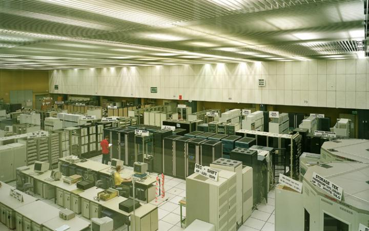 Ein Raum im Cern Kontrollcenter
