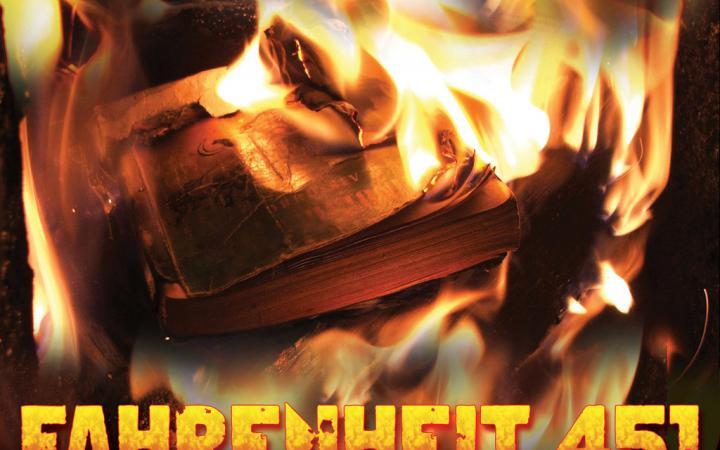 A book in flames