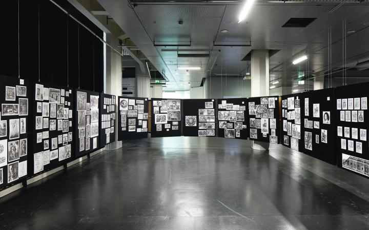 View of the exhibition »Aby Warburg. Mnemosyne Bilderatlas