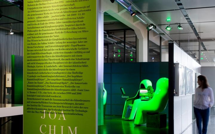 View of the exhibition »Joachim Krebs: Deleuze and the Sampler as an Audio-Microscope«