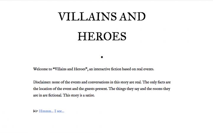 Bild aus Videospiel »Villains and Heroes« der niederländischen Künstlerin Marloes de Valk