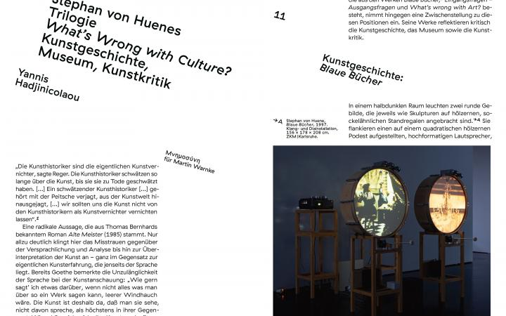 Seitenansicht »What's wrong with Art?«, 2021