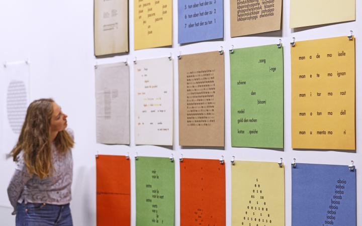 Exhibition view »Konrad Balder Schäuffelen: language is a body, forsooth«