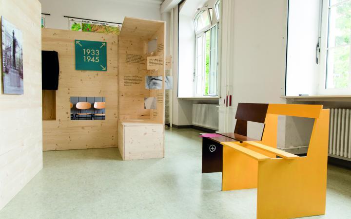 Ansicht der Ausstellung zum Projekt »NS in Karlsruhe«