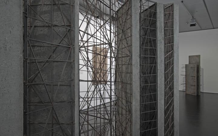 """Exhibition view """"Giuseppe Uncini"""""""
