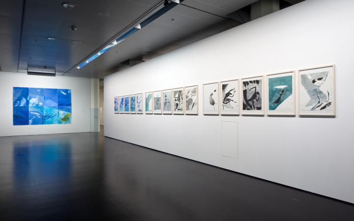 Ausstellungsansicht Emil Wächter