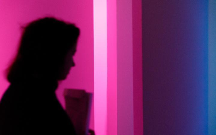 Blick in die Ausstellung »Durch den schalldichten Vorhang. Das Experimentalstudio des Polnischen Rundfunks«