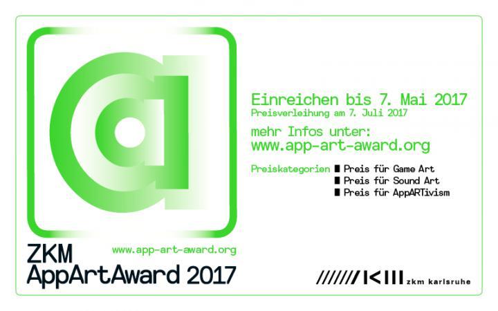 Das Bild zeigt die Ausschreibung zum App Art Award 2017
