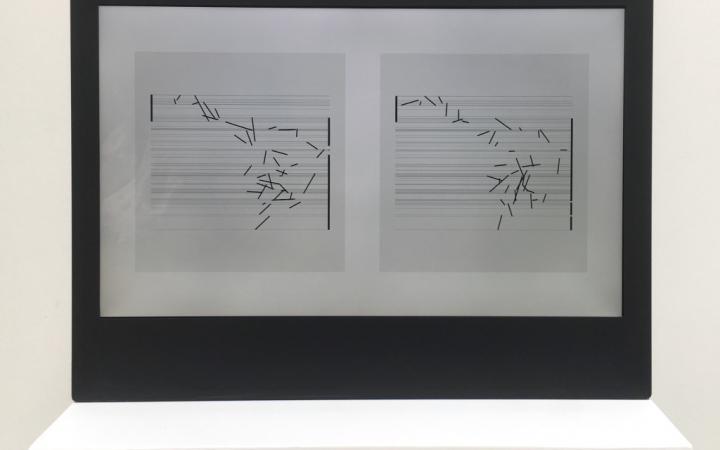 Manfred Mohr, »P1680-D, Artificiata II« und »P1690_2x8«