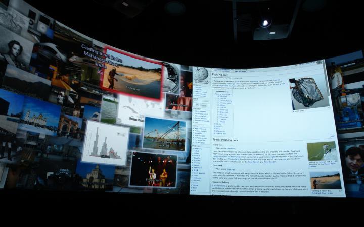 360°-Ansicht verschiedener Webseiten